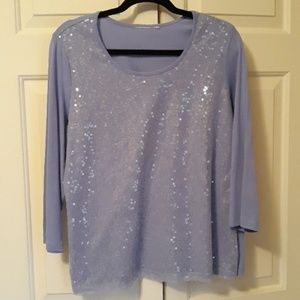 Tops - Purple pullover round neck plus size 20 top shirt